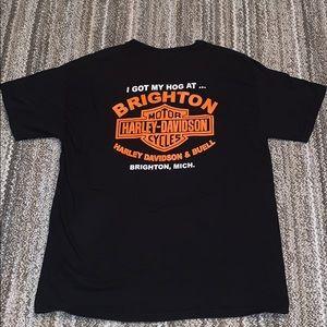 Hanes Shirts - Harley Davidson Print T-Shirt